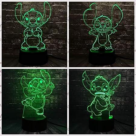 ziweipp Lámpara Lilo Stitch para niños Lámpara LED de luz ...