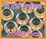 DSM TM 1000 #3 0.43'' Grommet and Washer Brass / Gold Eyelet Grommets Machine Sign Punch Tool