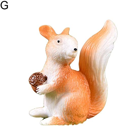 Cute Squirrel Miniature Figurine Fairy Garden Dollhouse Decor Mini Landscape CA
