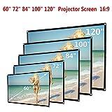 Caopixx 120 inch Projector Screen, 16:9 HD Foldable