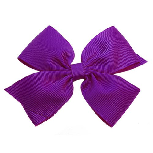 Boutique Baby Girl Accessory Ultra Violet Grosgrain Clippie Hair - Style Sophias