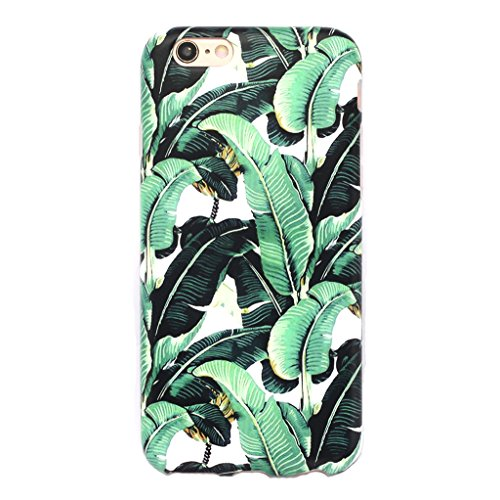 Case Banana (GOLINK iPhone 6/6S Case for Girls Floral Slim-Fit Ultra-Thin Anti-Scratch Shock Proof Dust Proof Anti-Finger Print TPU Case for iPhone 6/iPhone 6S(4.7 inch Display) - Banana Leaf)