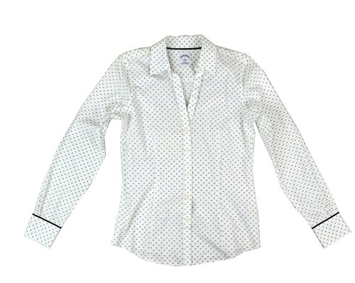 Brooks Brothers Women's All Cotton Non-Iron Button Down Shirt White - Cotton Shirt Brooks