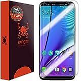 Galaxy S8 Plus Screen Protector (2-Pack, Case Friendly Updated Design), Skinomi TechSkin Full Coverage Screen Protector for Galaxy S8 Plus Clear HD Anti-Bubble Film