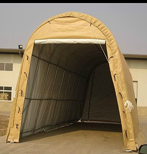 Cheap Portable Carports |Instant Garages | Vehicle Shelters (Gray, Round 14'Wx30'Lx12'H) (Tan)