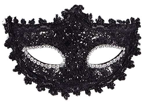 Halloween Masks Accessories (Livingston Women's Luxurious Christmas/Halloween Costume Accessory Masquerade Mask)