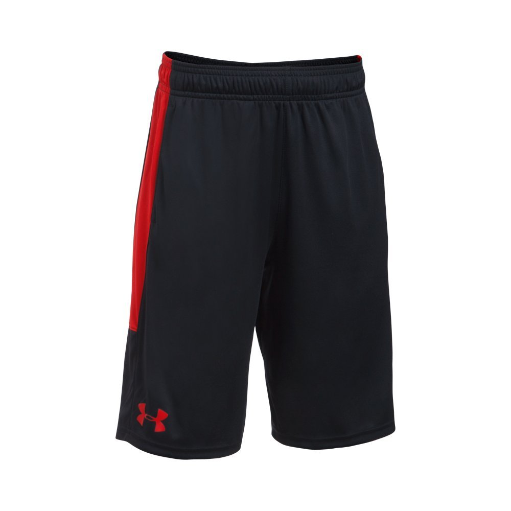 Under Armour Boys Instinct Shorts,Black /Red Youth X-Small