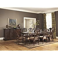 Roundhill Furniture D615-9PC Sunhill Formall Rectangular Dining Room Set, Table with 8 Chairs