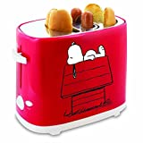 Smart Planet HDT-1S Peanuts Snoopy Hot Dog Toaster, Red