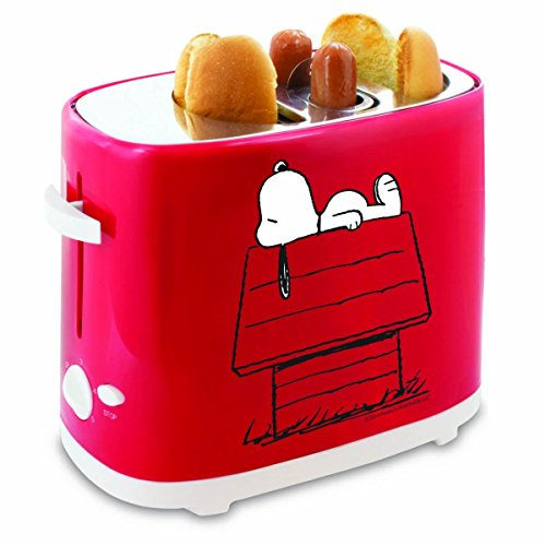 Smart Planet HDT‐1S Peanuts Snoopy Hot Dog Toaster, Red