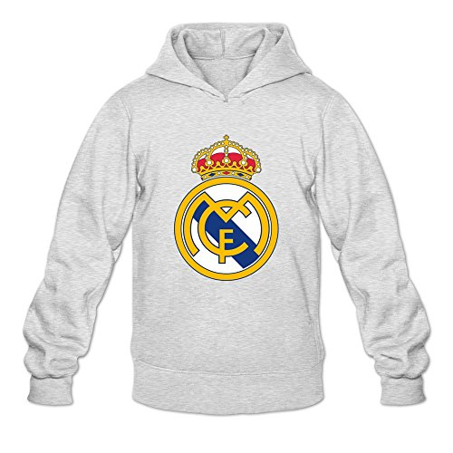 (Men Real Madrid Logo Customized Retro Size XL Color Ash Hoddies By)