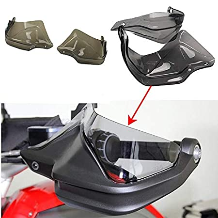 XIESHUPING For BMW R 1200 GS ADV R1200GS LC F 800 GS Adventure S1000XR R1250GS Motorcycle Handguard Hand shield Protector Windshield Color : Grey