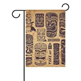 Hopes's Home Garden Flags Printed Vintage Aloha Tiki Set Indoor Outdoor 12x18 inch