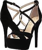 Jessica Simpson Women's Roxelle Heeled Sandal, Black Velvet, 7 Medium US