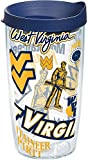 Tervis 1259031 NCAA West Virginia Mountaineers All Over Tumbler, 16 oz, Clear
