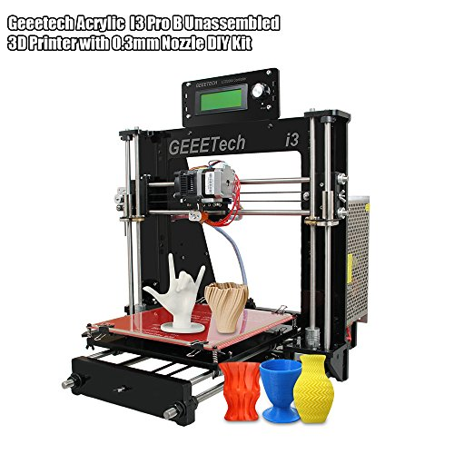 KKmoon Geeetech Acrylic I3 Pro B Unassembled 3D Printer with 0.3mm Nozzle DIY Kit