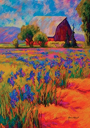 Toland Home Garden  Lavender Farm 12.5 x 18-Inch Decorative