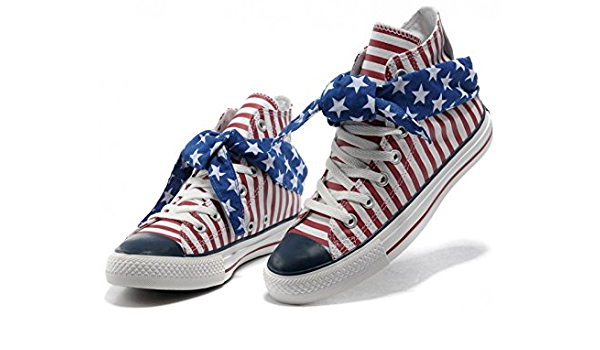 Converse Shoes Red/White Blue Scarf