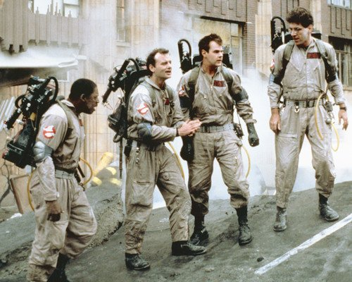 Ghostbusters Bill Murray and the gang wearing uniforms in street 8x10 Promotional - Street Murray Shops