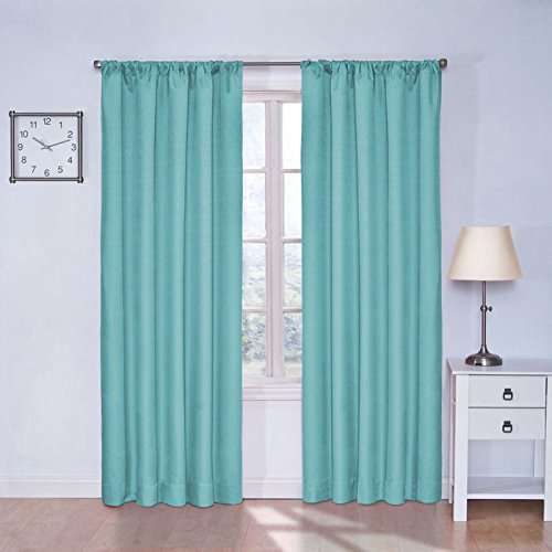 teal bedroom curtains. Eclipse 10707042X084TUQ Kendall 42 Inch by 84 Thermaback Room  Darkening Single Panel Turquoise Curtains Teal for Bedroom Amazon com