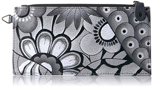 Anna by Anuschka Organizer Wallet | Genuine Leather | Patchwork Pewter