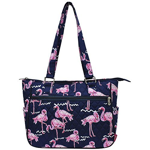 Shoulder Bag (Pink Flamingo Navy Blue) ()