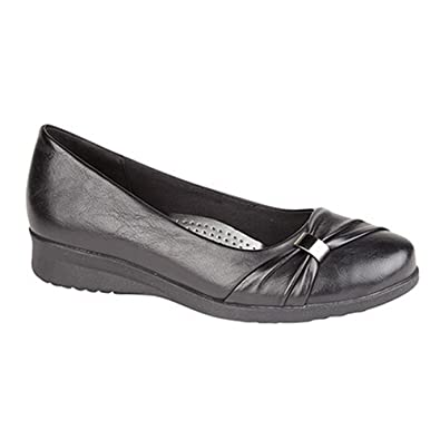 c37839b66535 Boulevard Womens Ladies Sash Vamp Wedge Casual Shoes  Amazon.co.uk ...