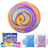 AUNOOL Fluffy Slime - 10 Ounce Fluffy Floam Slime Putty with Cool Textures, Super Soft Non Sticky Smell Scented Stress Relief Toy for Kids (6 Pack)