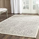 Safavieh Cambridge Collection CAM123D Handcrafted Moroccan Geometric Silver and Ivory Premium Wool Area Rug (11'6″ x 16′) Review