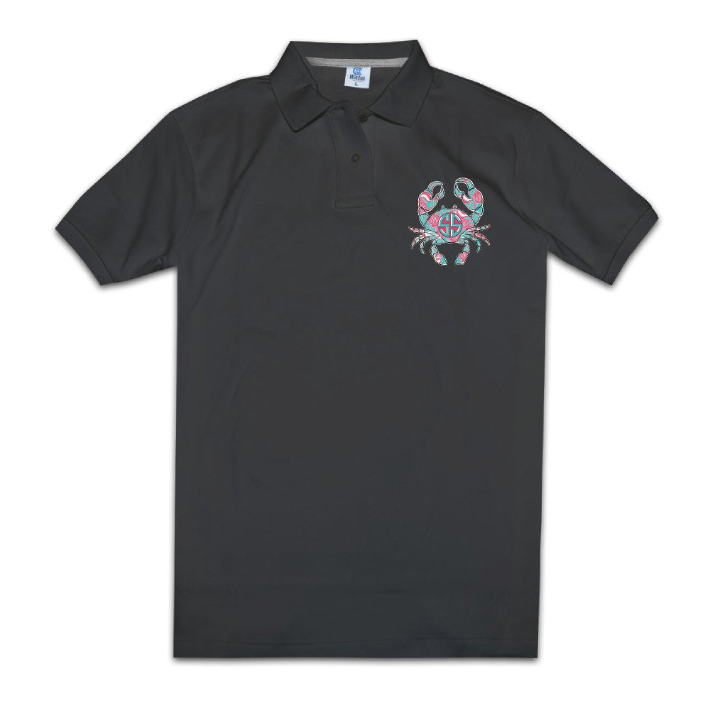 Crab On A Sunrise Men Golf Polo Shirts