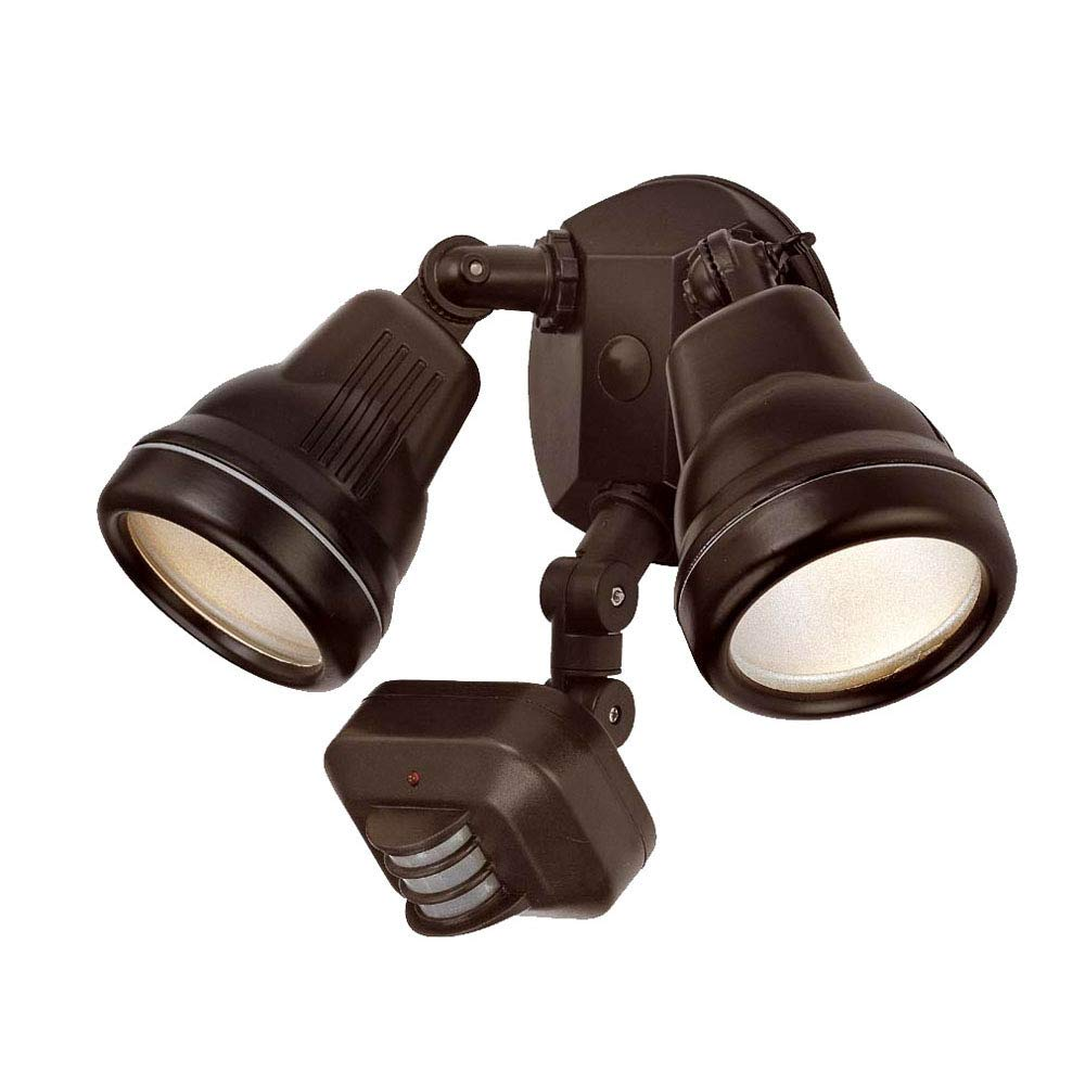 Acclaim FL55ABZ Motion Activated FloodLights Collection 2-Light Outdoor Light Fixture, Architectural Bronze