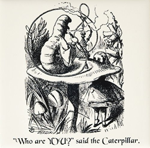3dRose ct_193796_1 Who Are You Smoking Caterpillar Quote From Alice in Wonderland Ceramic Tile, 4
