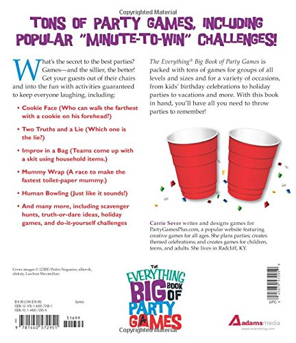 The everything big book of party games over 300 creative and fun the everything big book of party games over 300 creative and fun games for all ages carrie sever 9781440572951 amazon books solutioingenieria Choice Image