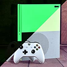 eXtremeRate Glow in the Dark Console Sticker Skin Decal Sets for Microsoft Xbox One S Console