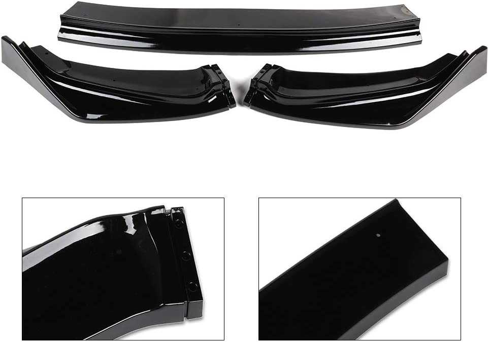 ECCPP Gloss Black Front Bumper Lip Splitter Spoiler Automotive Body Kits Spoiler Fits 2015-2017 Honda Fit 1.5L EX-L Hatchback 4door