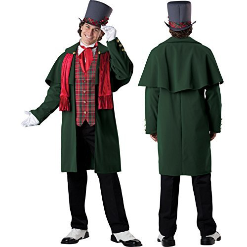[InCharacter Mens Deluxe Yuletide Gent Victorian Carol Singer Fancy Dress Christmas Costume - USA Medium by] (Singer Fancy Dress Costumes)