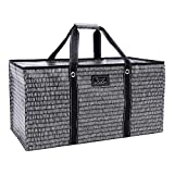 SCOUT Errand Boy Extra Large Tote Bag, For Grocery and Storage, Folds Flat, Reinforced Handles, Water Resistant, Pep Tally