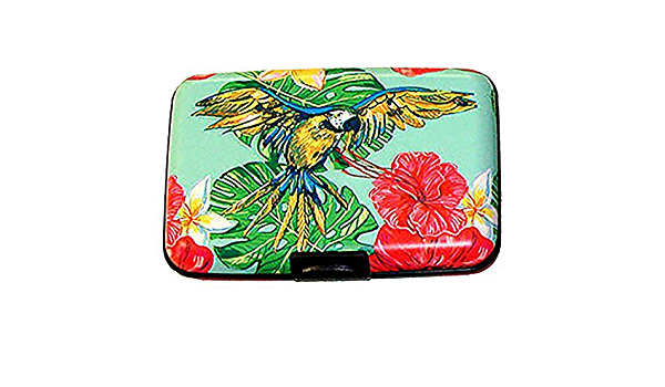 Armored wallet RFID blocking credit card sleeves sleeve Bird parrot set of 8