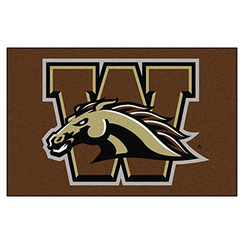 FANMATS NCAA Western Michigan University Broncos Nylon Face Starter Rug - Michigan University Basketball Rug