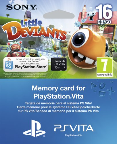 PS Vita - Tarjeta De Memoria De 16 GB + Little Deviants Voucher ...