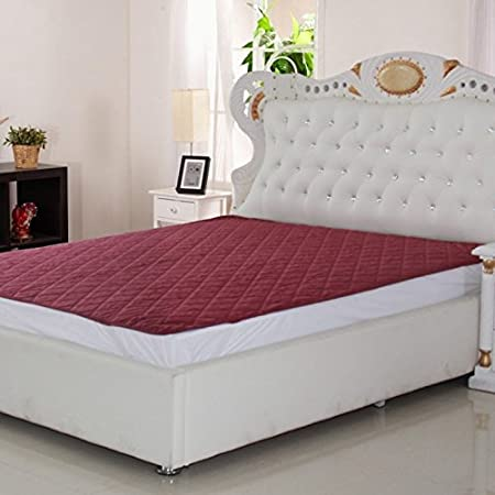 Signature Double Bed Waterproof and Dust Proof Mattress Protector (72X78-inch, Maroon)