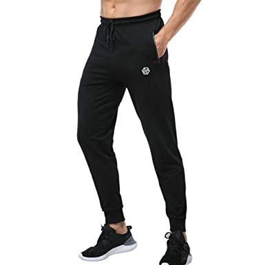 f76e35d69 Gerlobal Men s Joggers Pants Slim Fit Tracksuit Jogging Bottoms Elasticated  Waist Athletic Sports Trousers Sweatpants with