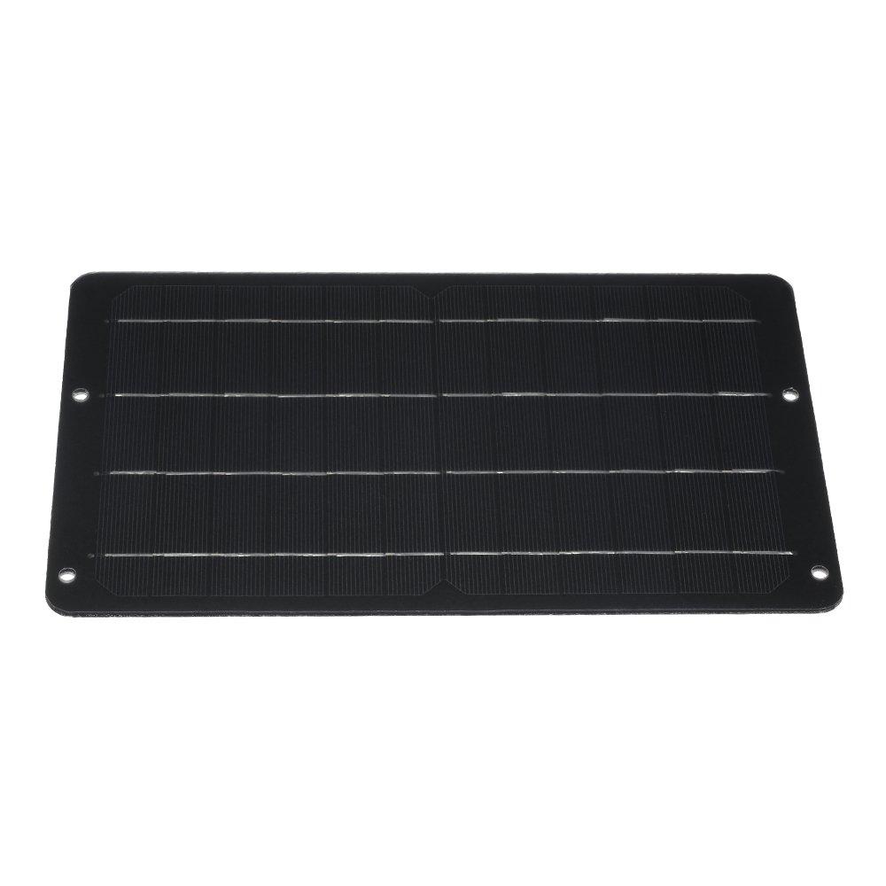 KKmoon High Conversion Rate Car Solar Panel 6V 10W Polycrystalline Silicon Solar Panel