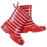 Polarn O. Pyret Classic Stripe RAIN Boots (Baby) - 7-7.5US/23EU/Ski Patrol