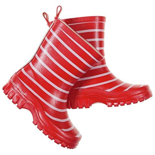 Polarn O. Pyret Classic Stripe RAIN Boots (Baby) - 7-7.5US/23EU/Ski Patrol by Polarn O. Pyret