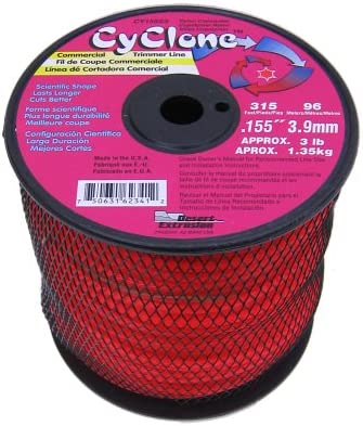 Cyclone Red CY155S3, 0.155-Inch by 315-Foot Commercial Trimmer Line - Best High-Performance Trimmer Line