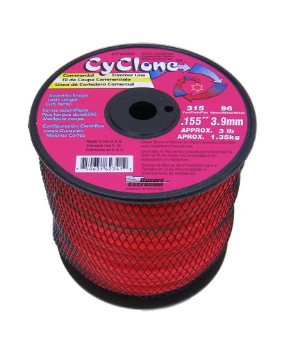 Cyclone .155-Inch-by-315-Foot Commercial Trimmer Line, Red CY155S3 by Cyclone