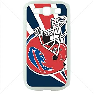 NFL American football Buffalo Bills Fans Samsung Galaxy S3 SIII I9300 TPU Soft Black or White case (White)