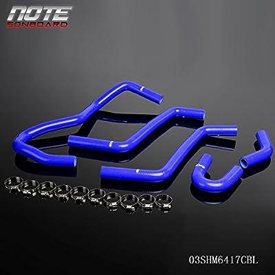 Silicone Coolant Radiator Hose Kit Clamps For 2004-2007 YAMAHA RHINO YXR450 YXR660 Blue: Automotive