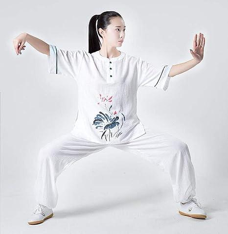 QWER Mujeres Tai Chi Traje Uniforme De Artes Marciales Ropa ...